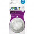 Avent Natural Medium Flow Teat 3m+ (3 Hole) Twin Pack