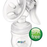 Product Description Philips Avent Natural Manual Breast Pump watch..gif More comfortable pumping position due to unique design The breast pump has a unique design, so your milk flows directly from your breast into the bottle, even when you are sitting up straight. This means you can sit more comfortably when pumping: no need for you to lean forwards to make sure all your milk ends up in the bottle. Sitting comfortably and being relaxed when pumping naturally helps your milk to flow more easily. Soft massage cushion for warm feel Our massage cushion has a new soft velvety texture that gives a warm feel to the skin for comfortable, gentle stimulation of your milk flow. During pumping, it gently mimics your baby's suckling for natural let down and clinically proven effectiveness. The soft massage cushion is designed to comfortably fit the majority of mums. Includes our Natural bottle and teat for natural latch on The wide breast-shaped teat promotes natural latch on similar to the breast, making it easy for your baby to combine breast and bottle feeding. http://images.philips.com/is/image/PhilipsConsumer/F400041468-FIL-global-001?size=284,160&align=-1,-1&$jpglarge$ Compact lightweight design The breast pump has a compact design, which makes it easy to position. Its ergonomically-shaped handle offers a comfortable hold and full control when expressing milk. Being small and lightweight means it is easy to store and transport, making pumping on-the-go more discreet. http://images.philips.com/is/image/PhilipsConsumer/F400041485-FIL-global-001?size=284,160&align=-1,-1&$jpglarge$ Intuitive assembly. Easy visual matching of parts Easy visual matching of parts for intuitive assembly. http://images.philips.com/is/image/PhilipsConsumer/F400041507-FIL-global-001?size=284,160&align=-1,-1&$jpglarge$ Fully compatible range Compatible with other feeding products in our range This breast pump can be used in combination with other feeding products in the Philips AVENT range, including our Classic bottles and milk storage containers. Philips AVENT also provides a range of breast care accessories to help you breastfeed for longer and enhance your comfort. Easy cleaning thanks to the small number of separate parts Cleaning is easy, thanks to the small number of separate parts. All parts are dishwasher proof. Easy manual operation The manual breast pump is ideal if you express milk occasionally and value compactness. Easily operated with one hand. Highlights Sit more comfortably with no need to lean forward *More comfortable pumping position due to unique design Gently stimulates natural let down and milk flow *Soft massage cushion for warm feel Easy to combine breast and bottle feeding *Includes our Natural bottle and teat for natural latch on Easy to use, store and transport *Compact lightweight design Other benefits *Intuitive assembly. Easy visual matching of parts *Compatible with other feeding products in our range *Easy cleaning thanks to the small number of separate parts *Easy manual operation TECHNICAL SPECIFICATIONS: Everything you need to maintain your milk supply and to express and store your breast milk when away from your baby. Contains: • 1 Manual breast pump with funnel cover • 1 Avent Natural feeding bottle 4oz/125ml • 1 Extra soft newborn teat pack • 1 Sealing disc (for milk storage) • 2 Avent Disposable Breast Pads-Night • 2 Avent Disposable Breast Pads-Day Material :BPA-Free Country of origin :England