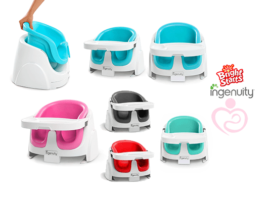 bright starts ingenuity baby base 2 in 1 booster seat mothers first choice. Black Bedroom Furniture Sets. Home Design Ideas