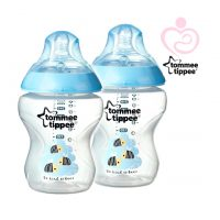 Tommee Tippee - Coloured Bottle Bee Blue