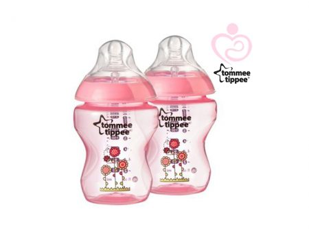Tommee Tippee - Coloured Bottle Peach