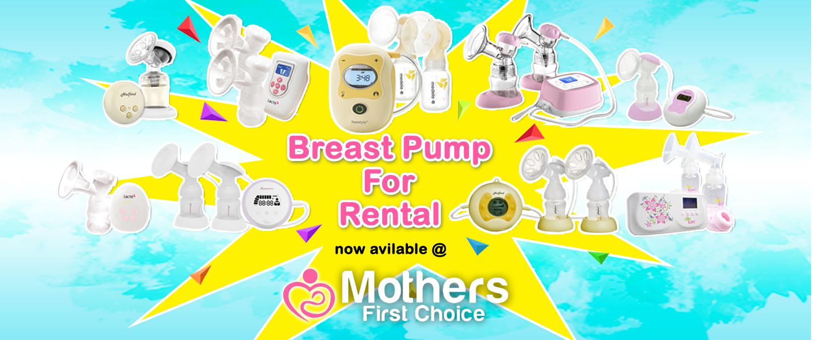 1640 × 686 Banner Breastpump for rental