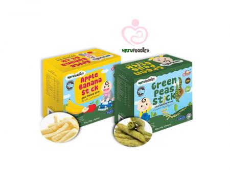 NatuFoodies - Banana and Peas Sticks
