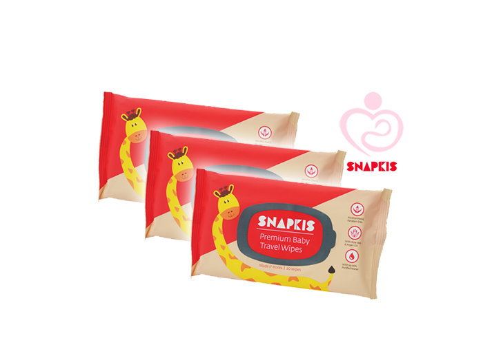 Snapkis Premium Baby Travel Wipes 20ply Mothers First Choice