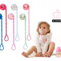 Broche Round Soother Chain With Clip 0M