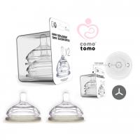 Comotomo - 2x - 2 Holes Medium Flow Teat 3 Plus