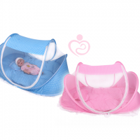 Baby Mat With Net Blue and Pink
