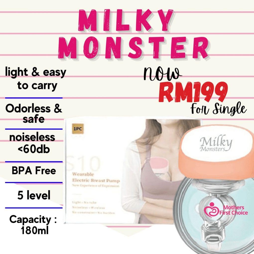 Milky Monsters Wearable Breast Pump S10 Version